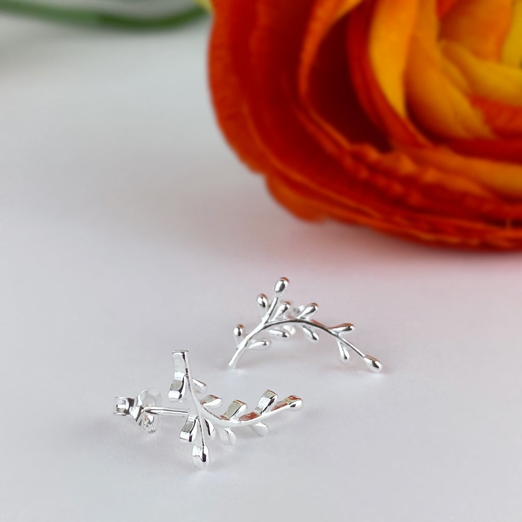 Silver Branch Earrings - VE631