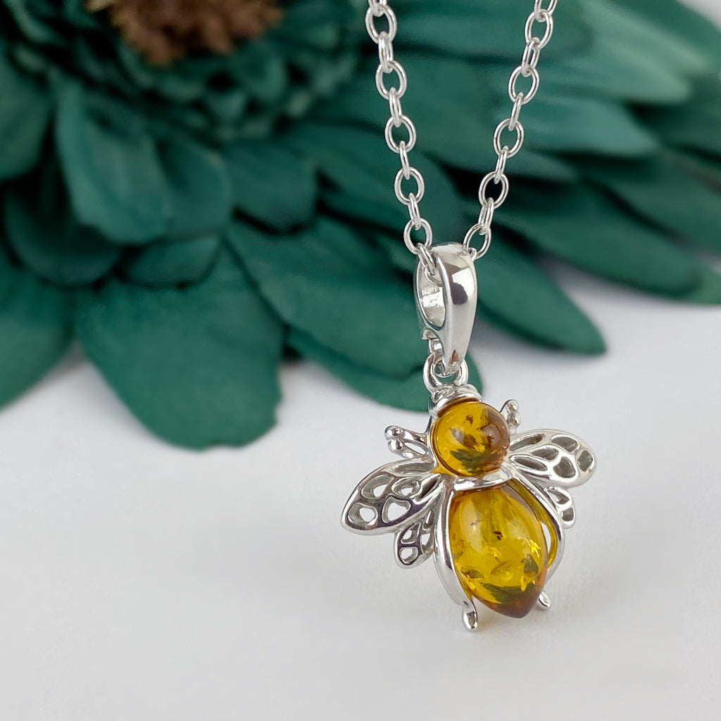 Amber Honey Bee Pendant - SCHN1108