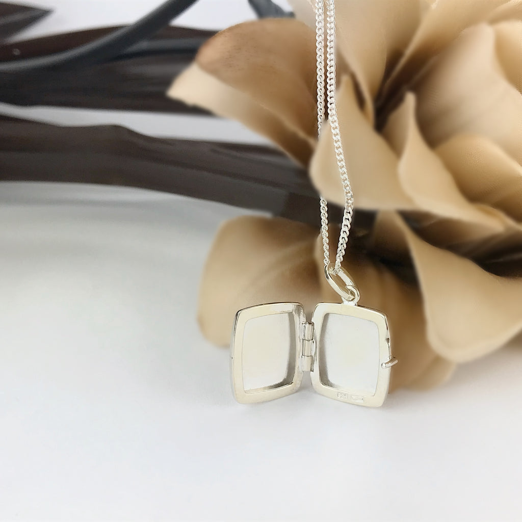 Silver Square Locket - SP1632
