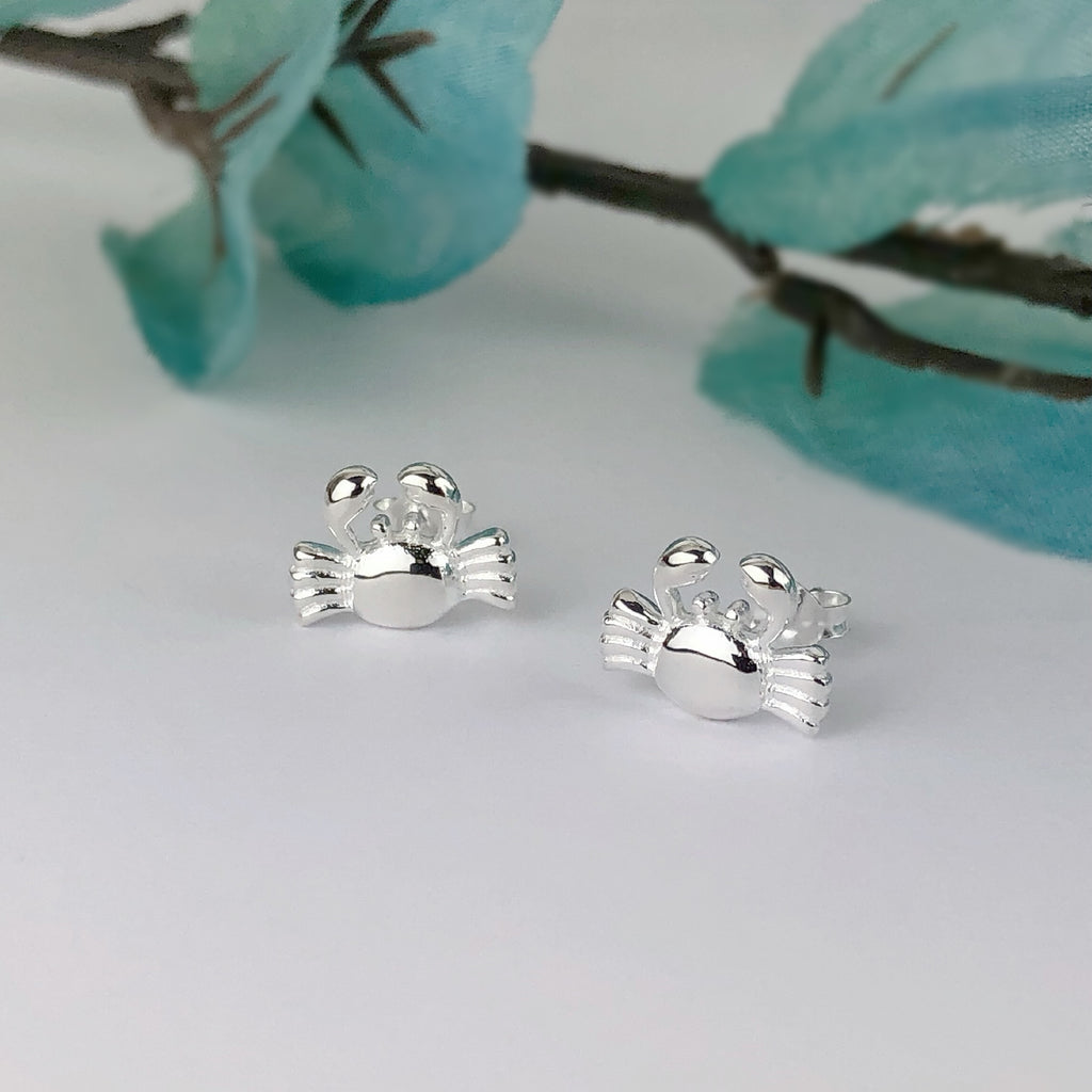 Silver Crab Stud Earrings - SE4770