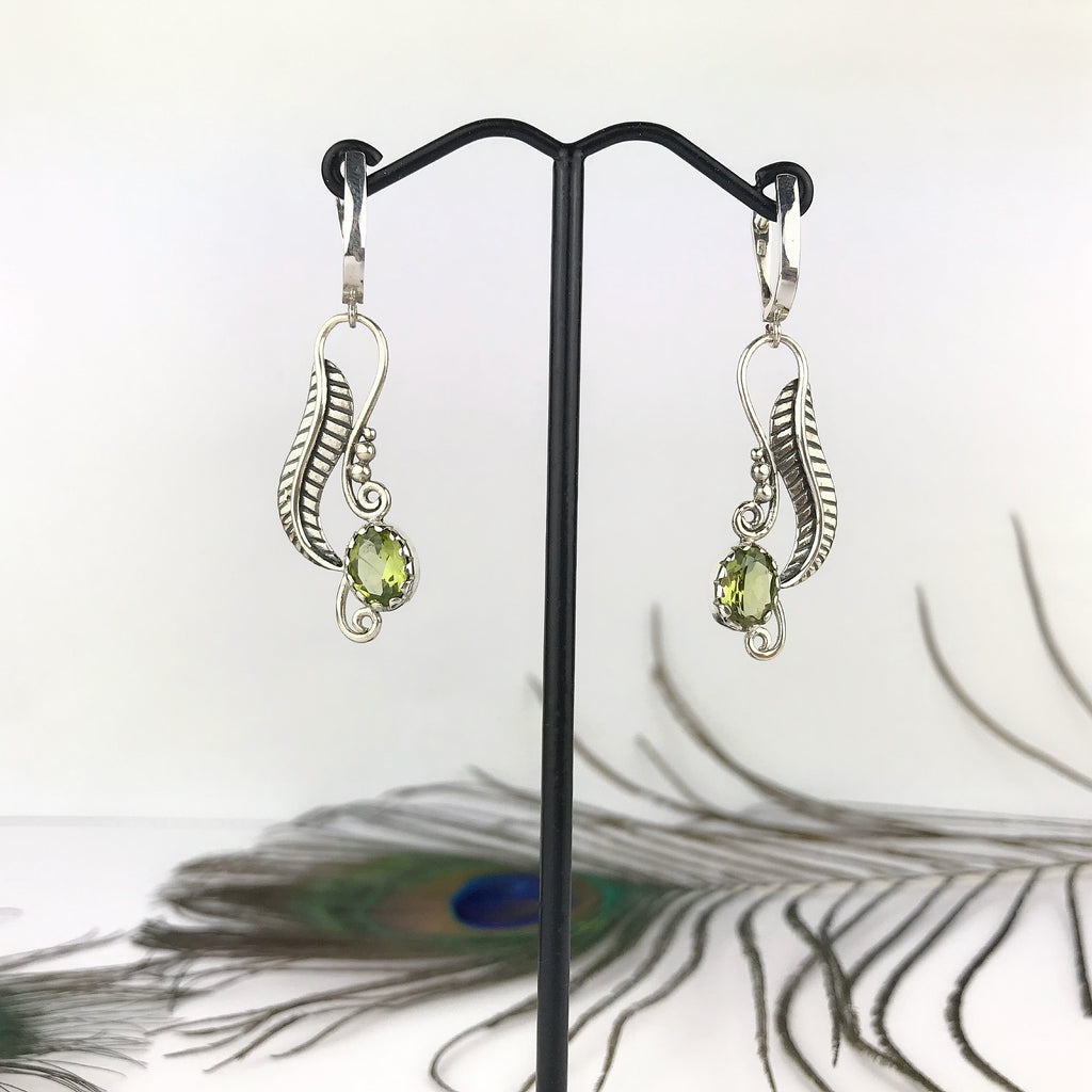 Green Fern Earrings - VE564