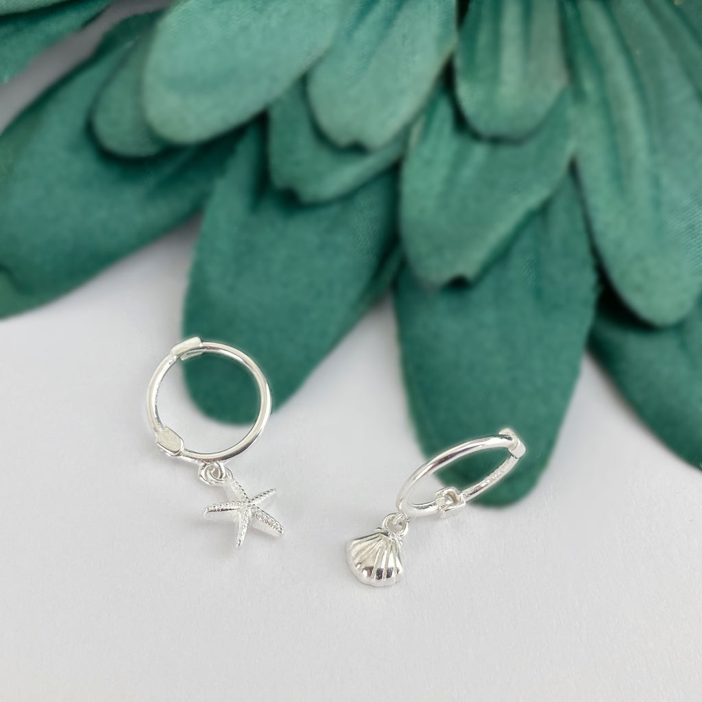 Mini Ocean Hoop Earrings - VE239