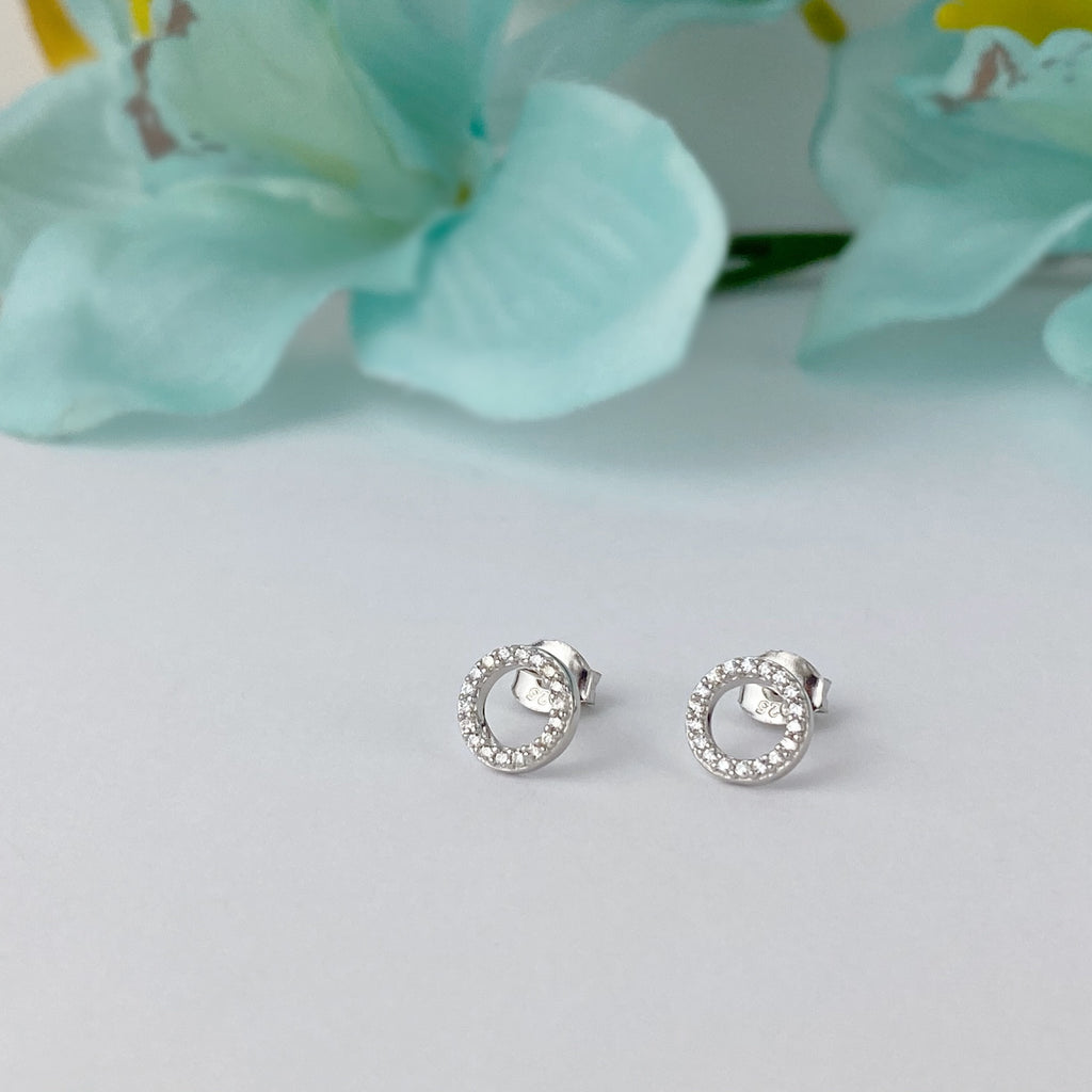 Circlet Sparkle Earrings - SE4762