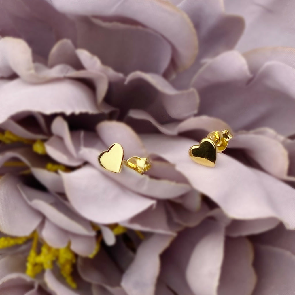 Heart Of Gold Stud Earrings - VE598