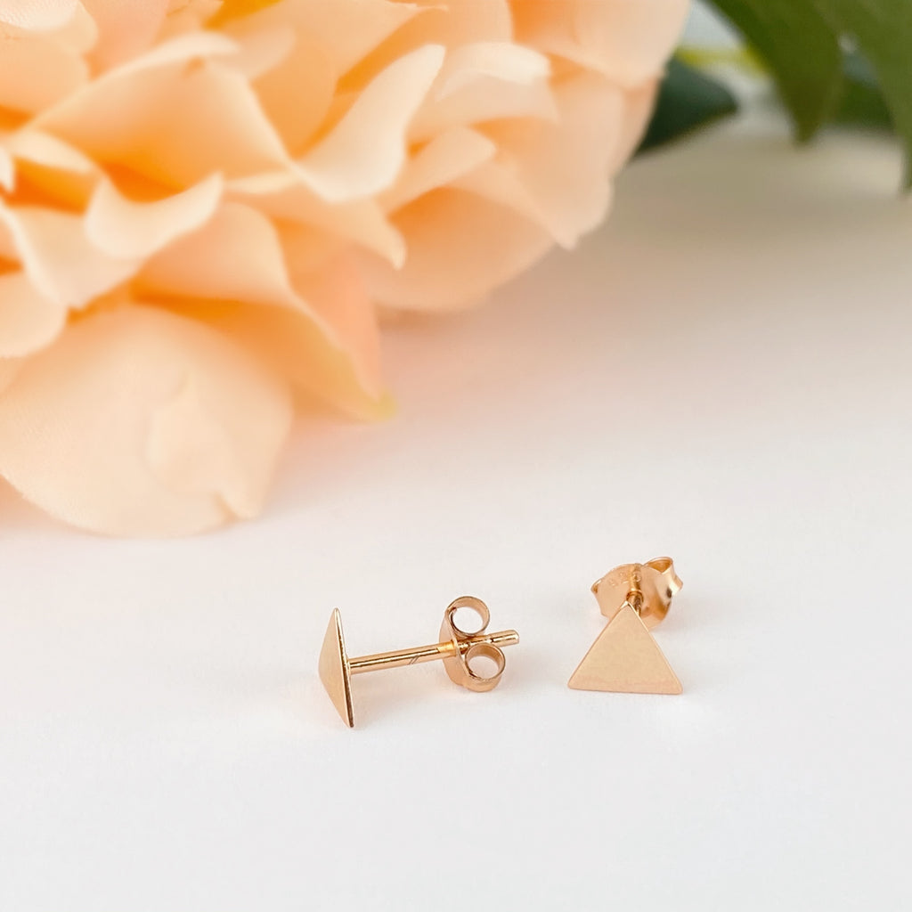 Golden Pyramid Earrings - VE612