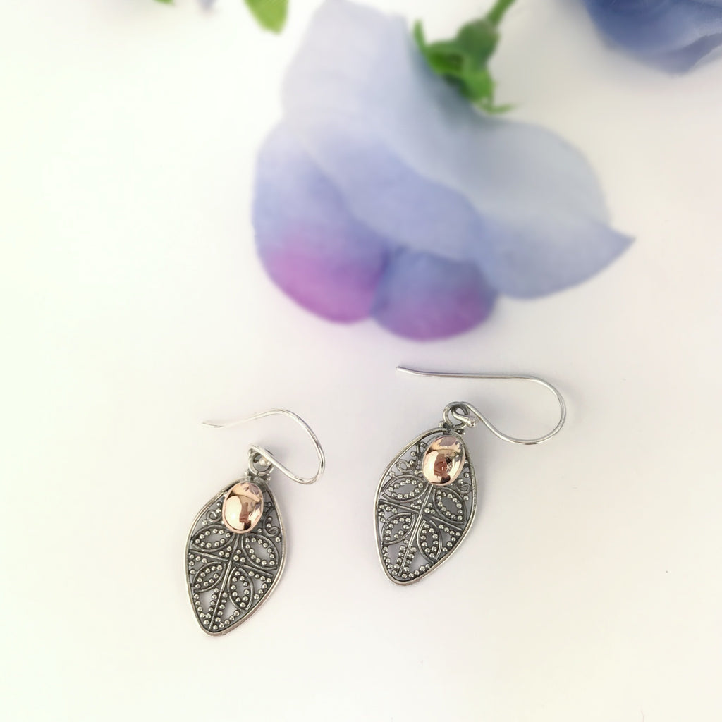 Gold Leaf Earrings - VE404