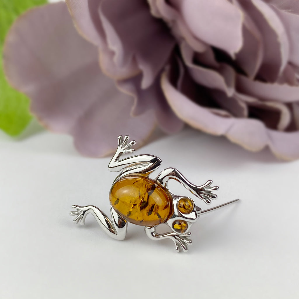Golden Frog Brooch - VBR106