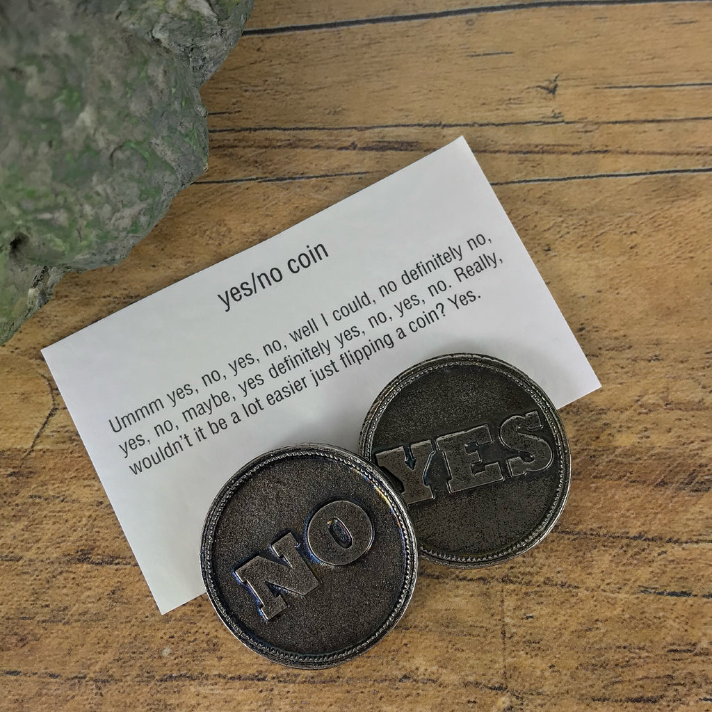 """Yes/No Coin"" Keepsake Charm - VMC101"
