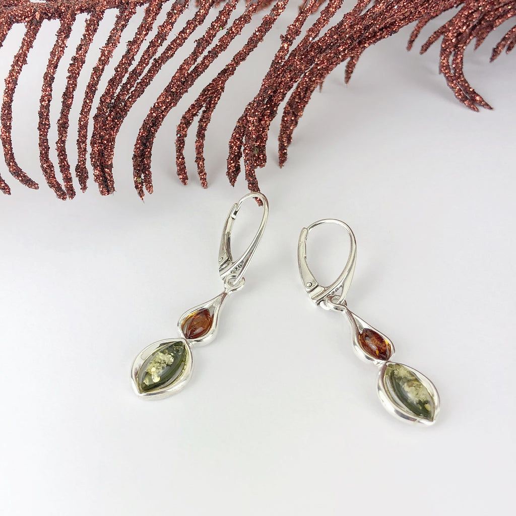 Amber Orchid Earrings - VE578