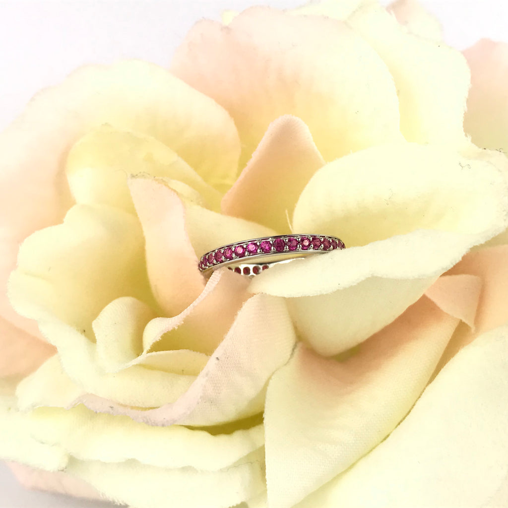 Pink Sparkle Stack Ring - SR1417
