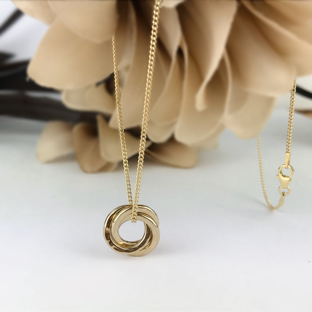 Golden Circles Pendant - SP2593