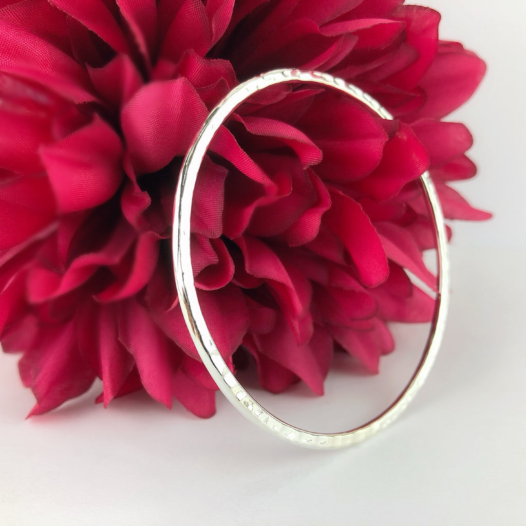 Hammered Classic Bangle - SBGL774