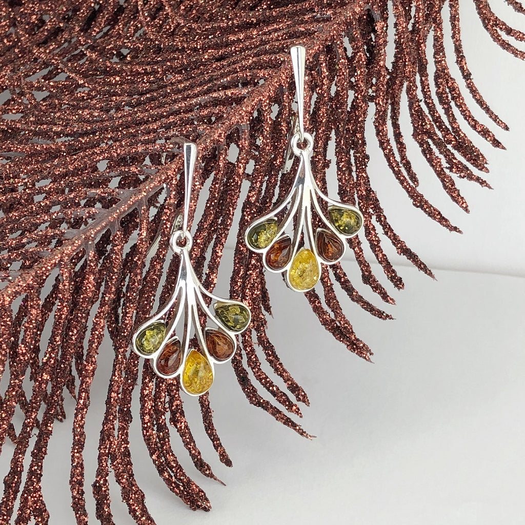 Amber Fan Earrings - VE577