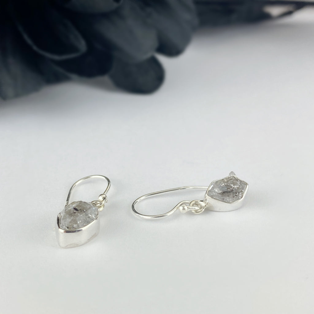 Frosted Diamond Earrings - VE408