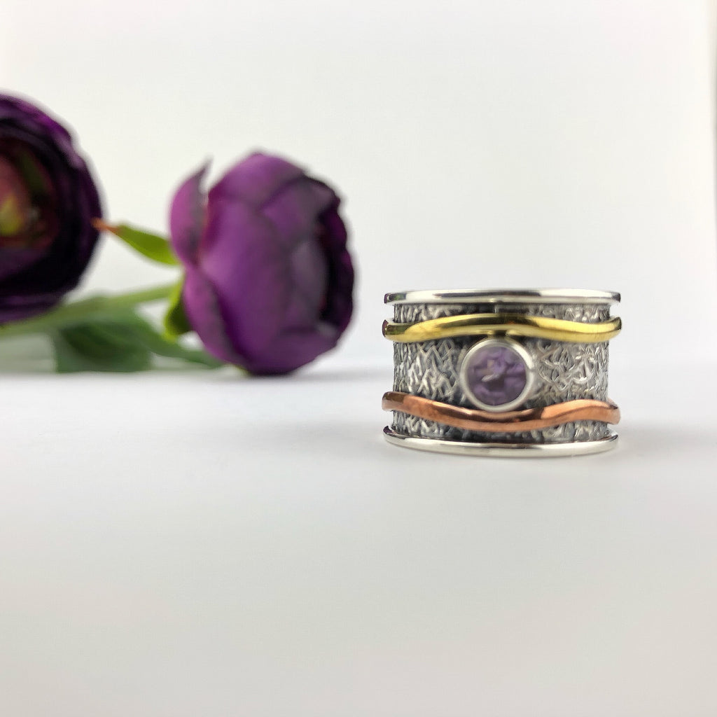 Amethyst Wave Ring - VR333