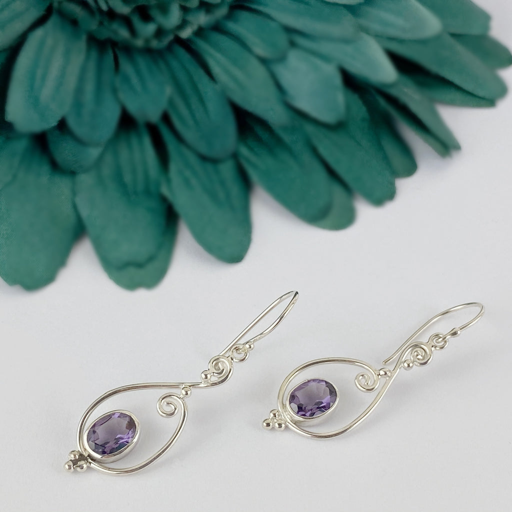 Amethyst Swirl earrings - VE611