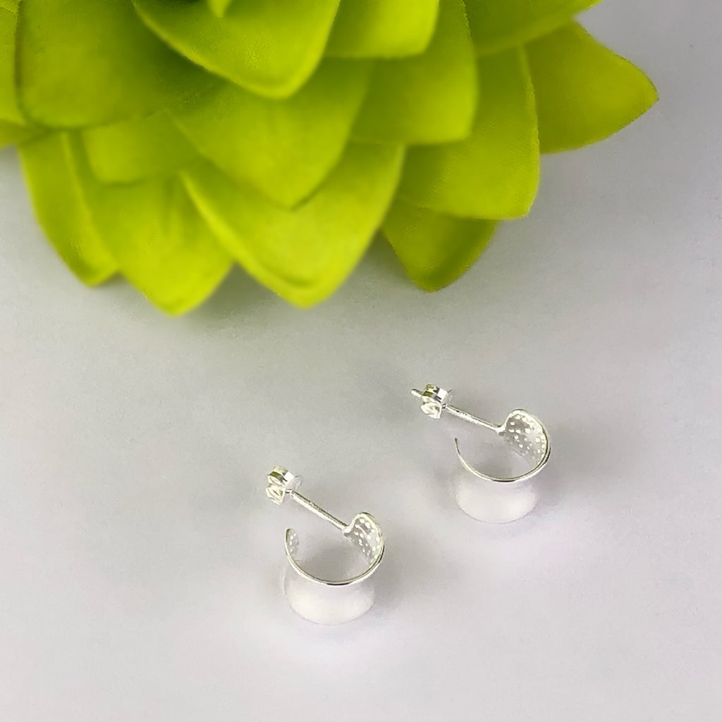 Silver Curl Earrings - VE499