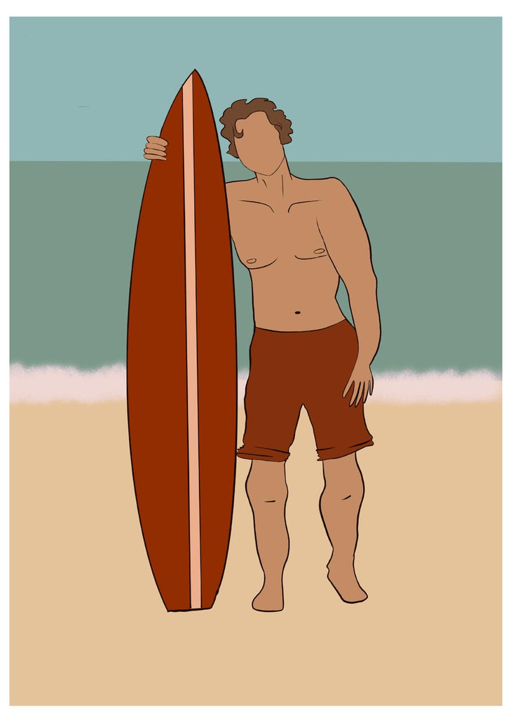 Surf Dude Greetings Card - EN04