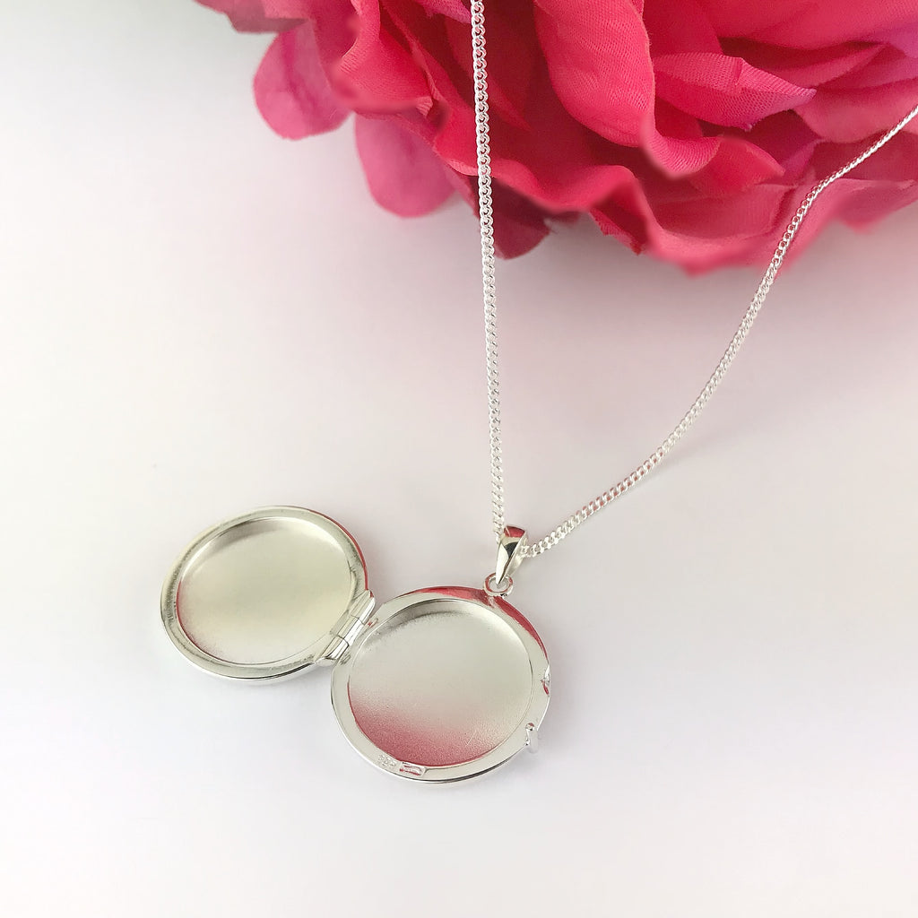 Silver Circle Locket - SP2345