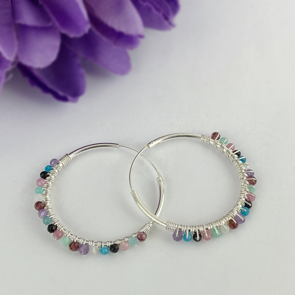 Pastel Hoop Earrings - VE235