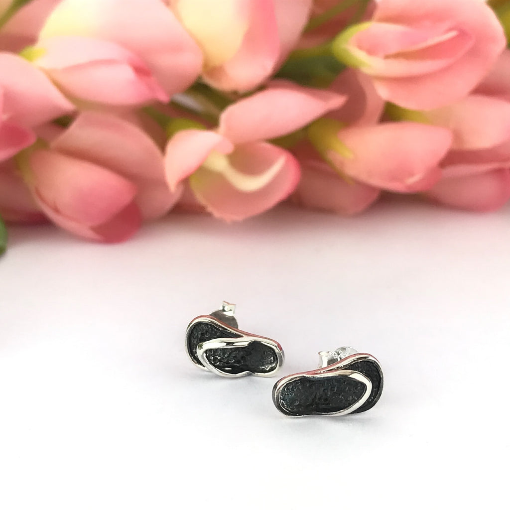 Silver Flip Flop Earrings - VE509