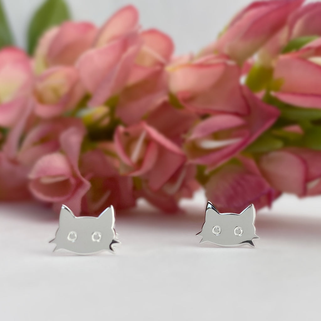 Kitten Face Earrings - VE661