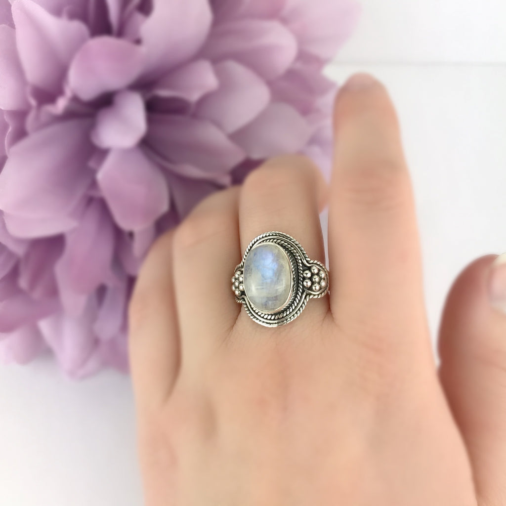 Medieval Moonstone Ring - VE400
