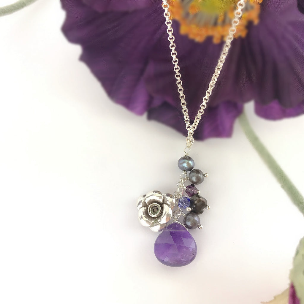 Paradise Rose Anklet (Purple) - VANK119