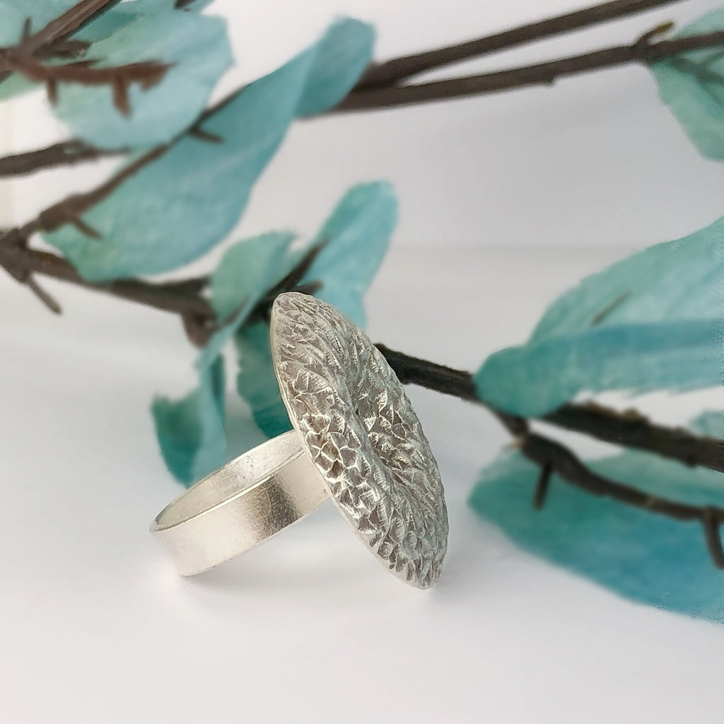 Silver Pillow Ring - VR255