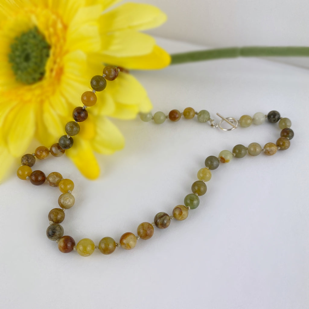 Jade Bead Necklace - VNKL256