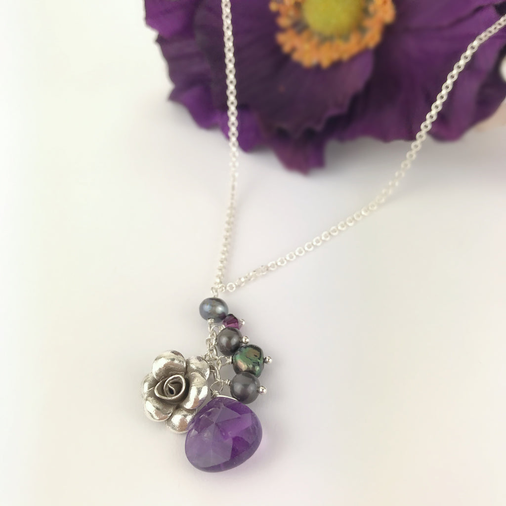 Purple Paradise Rose Pendant - VP140AM