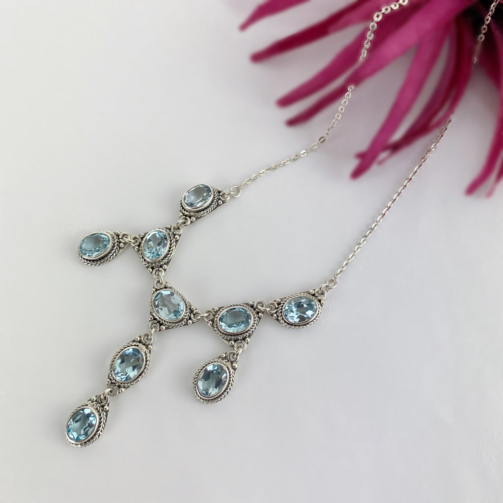 Blue Glacier Necklace - VNKL264