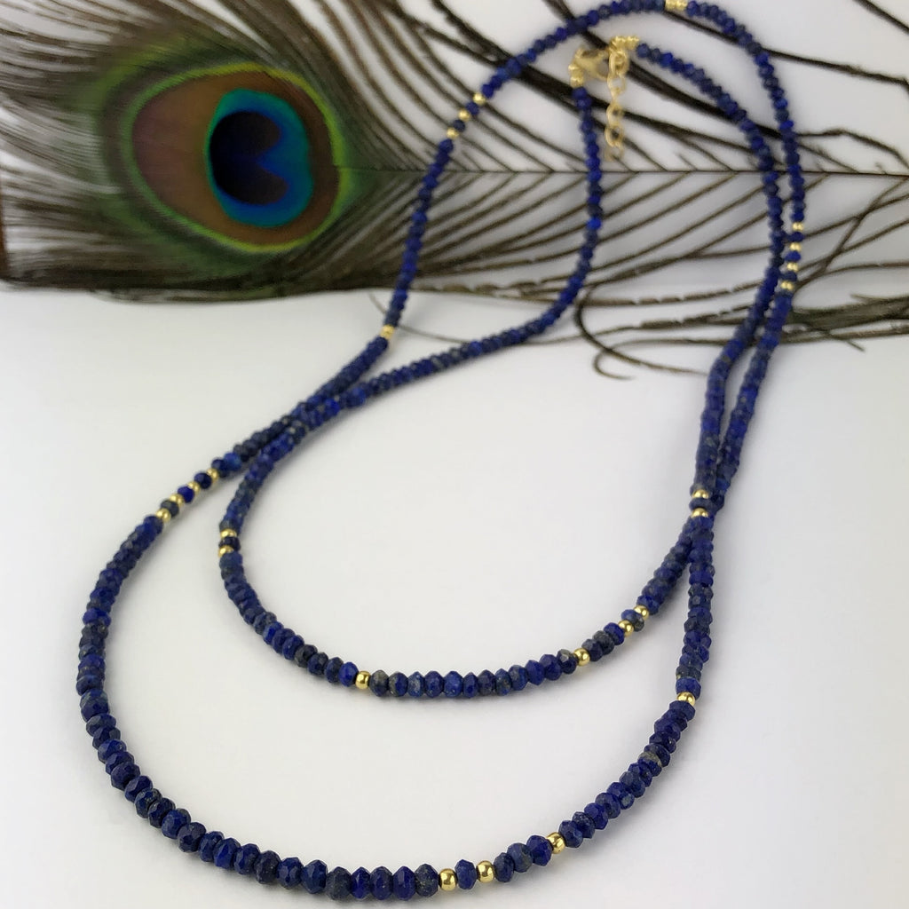 Peacock Blue Necklace - VNKL174