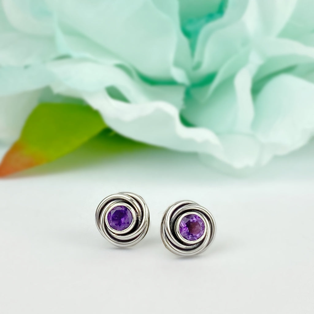 Blackcurrant Swirl Earrings - VE609
