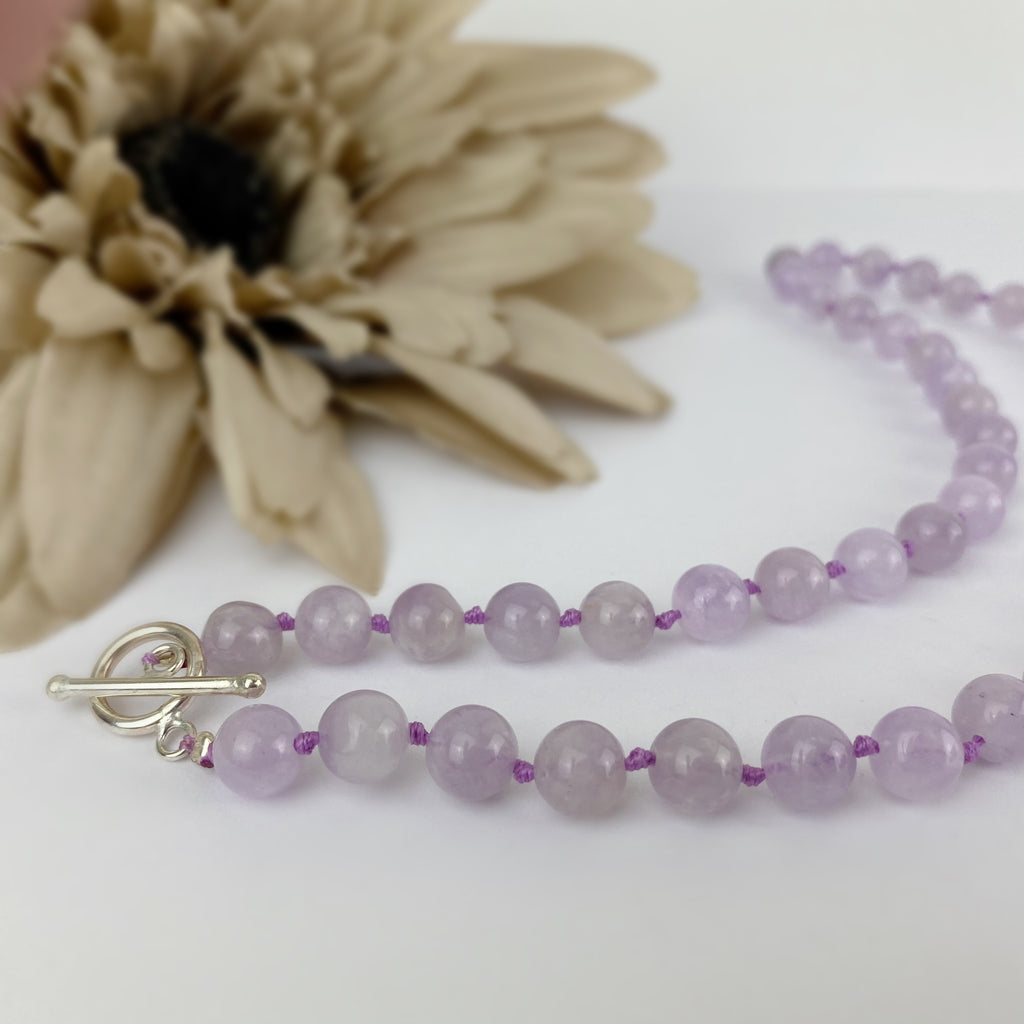 Lavender Bead Necklace - VNKL269