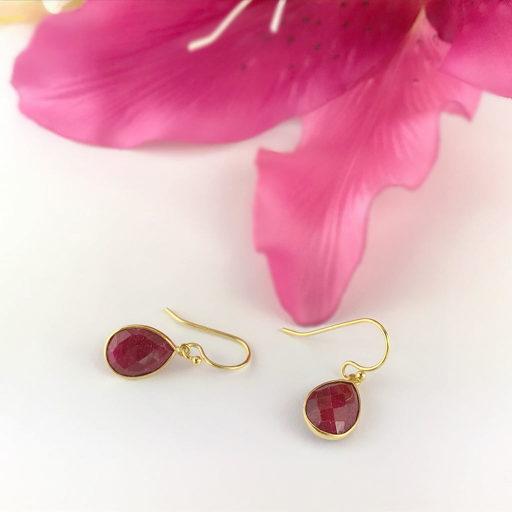 Ruby Moondrop Earrings - VE568
