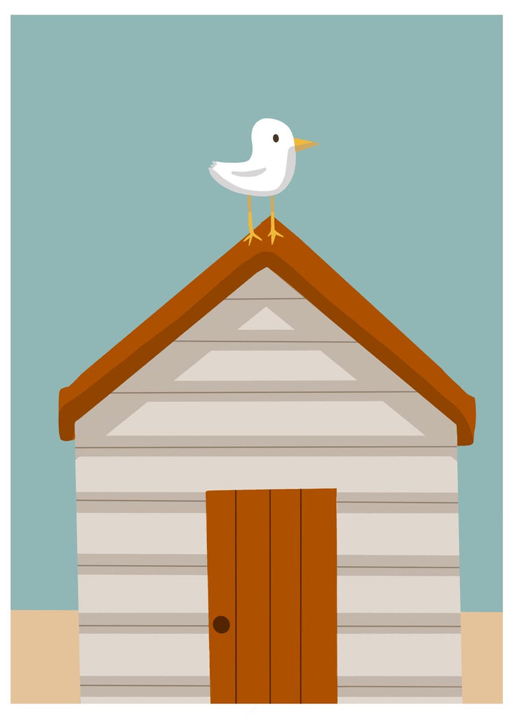 Beach Hut Greetings Card - EN05