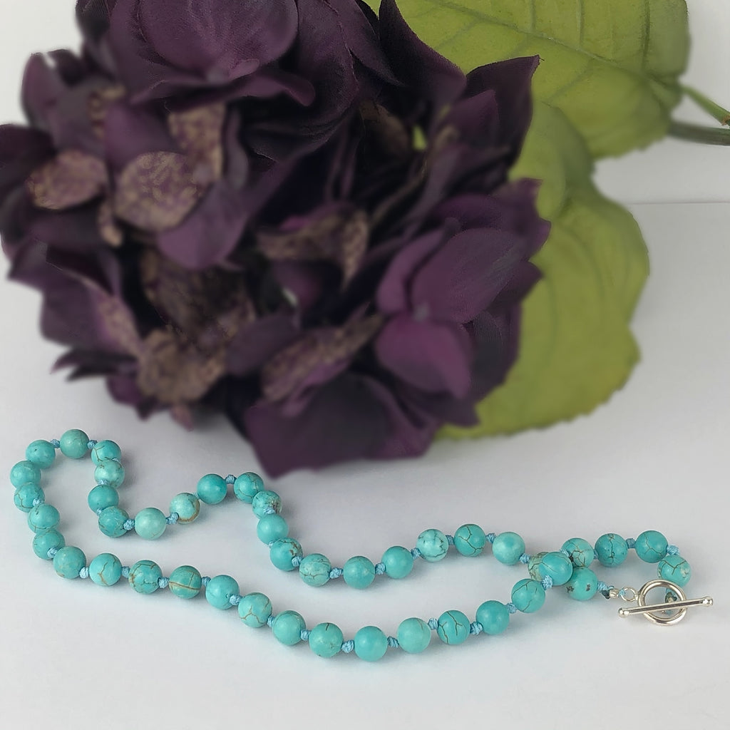 Turquoise Bead Necklace - VNKL220