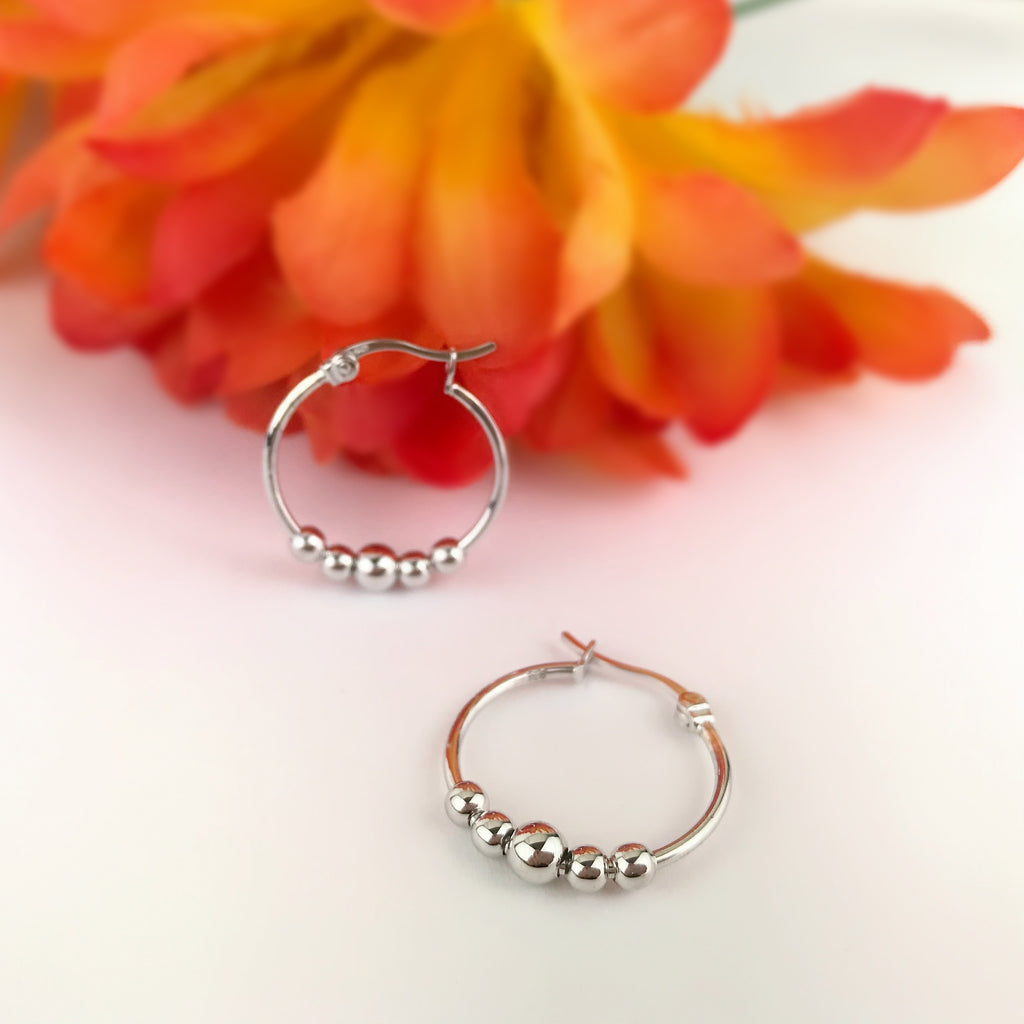 Abacus Hoop Earrings - SE4913
