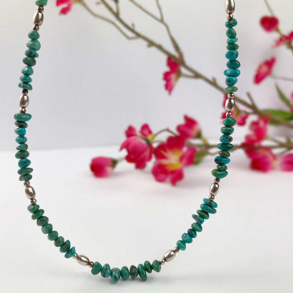 Turquoise Pebble Necklace - VNKL252