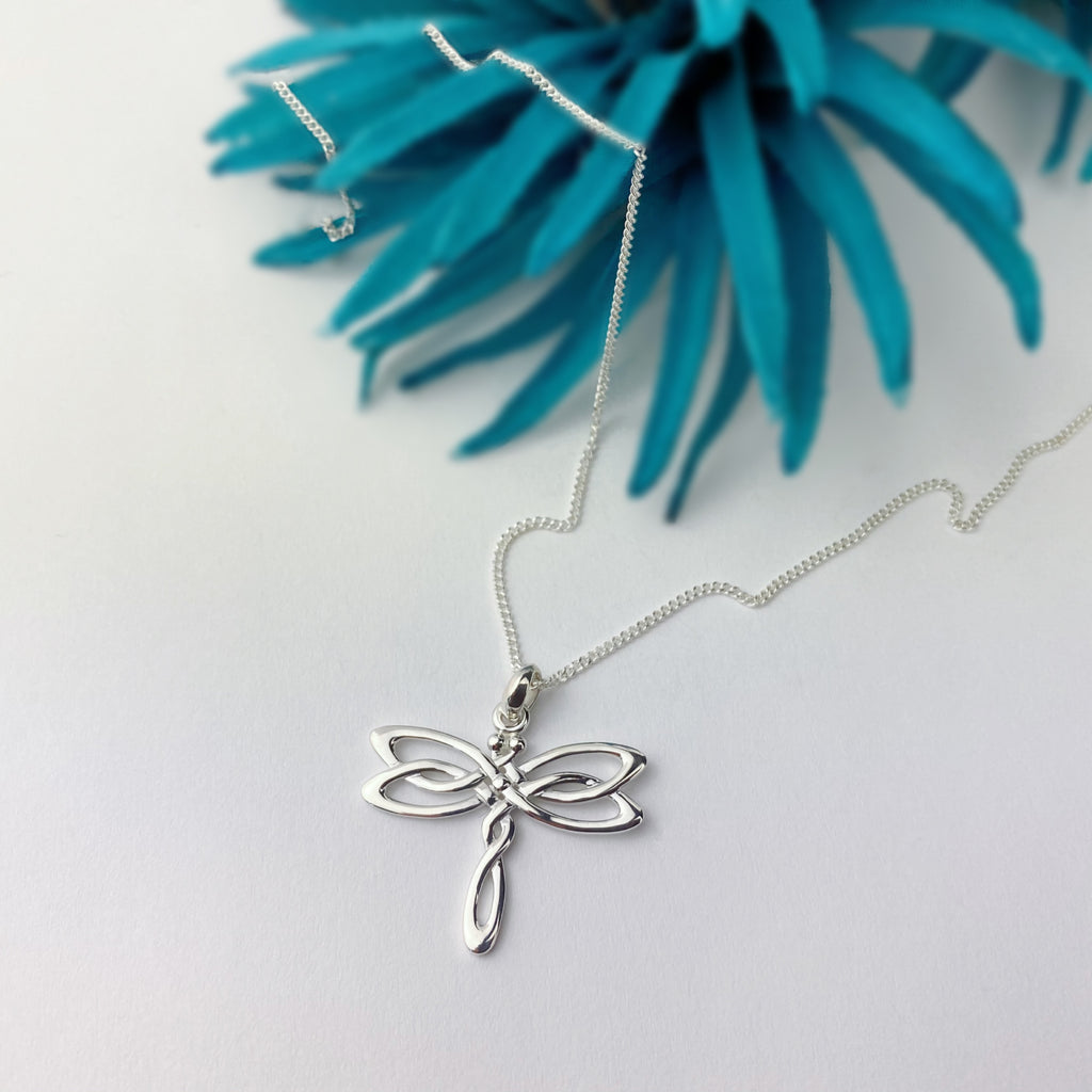 Celtic Dragonfly Pendant - SP2836