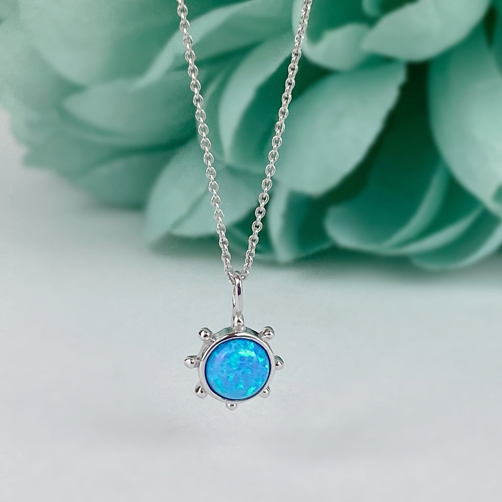 Blue Sun Necklace - SCHN1155