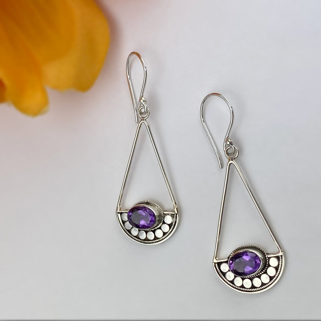 Amethyst Libra Earrings - VE215am