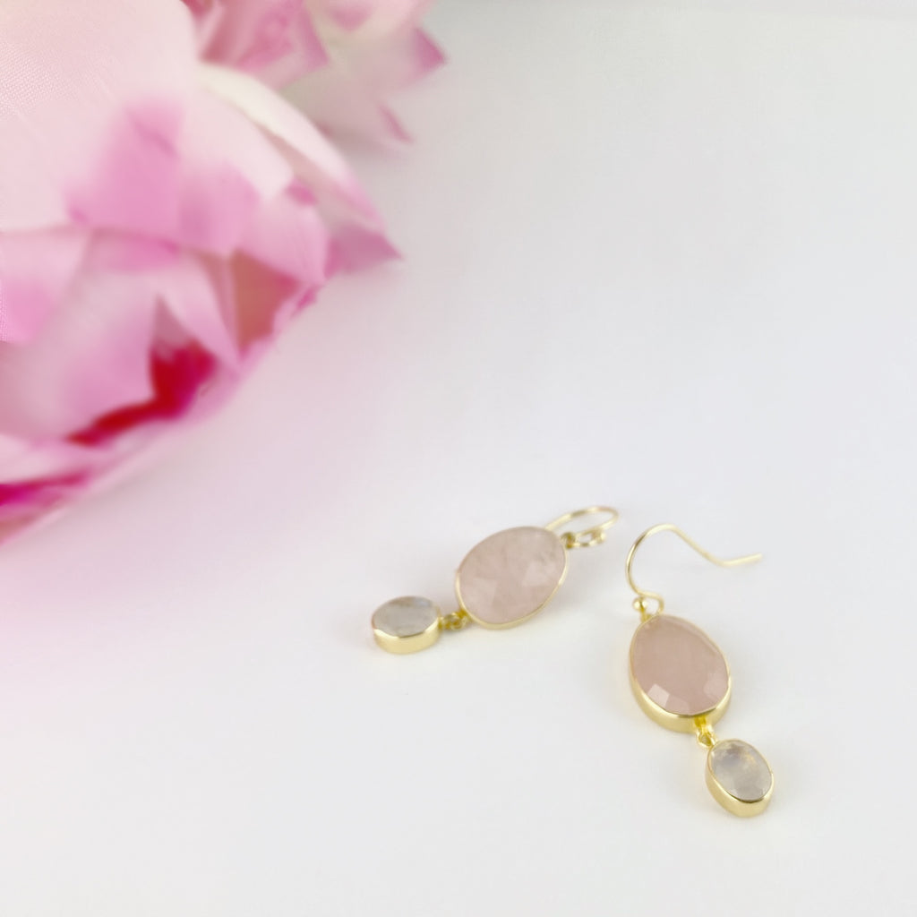 Rose Shimmer Earrings - VE624
