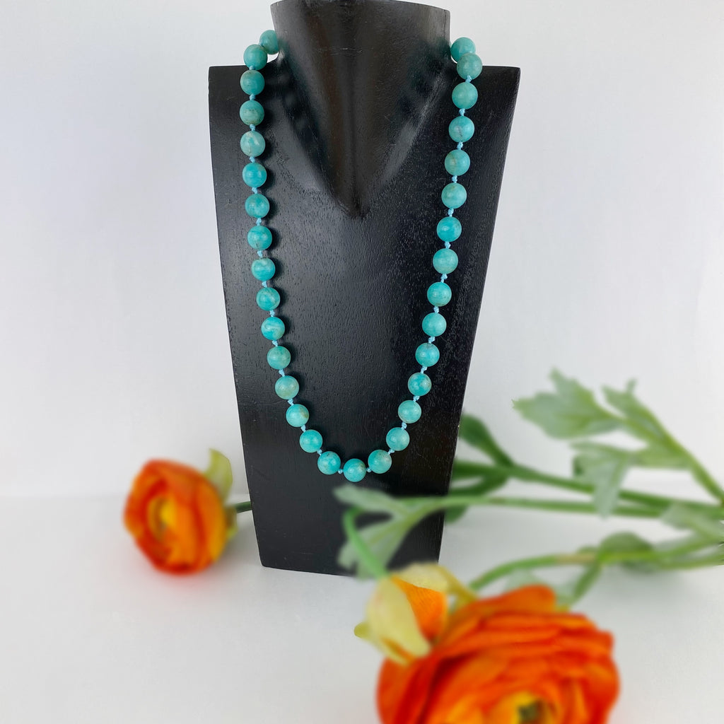 Amazonite Bead Necklace - VNKL258