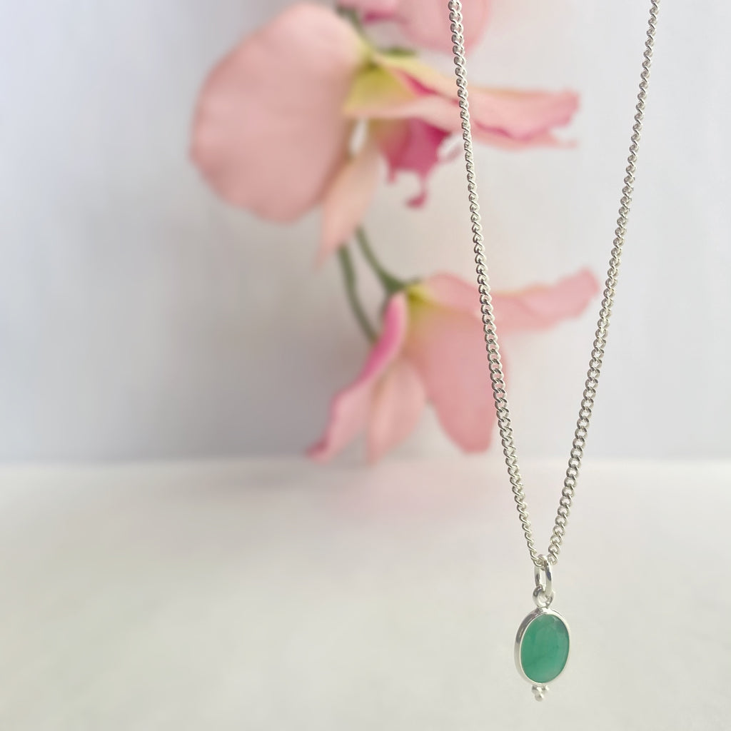 Hint of Emerald Pendant - SP1784