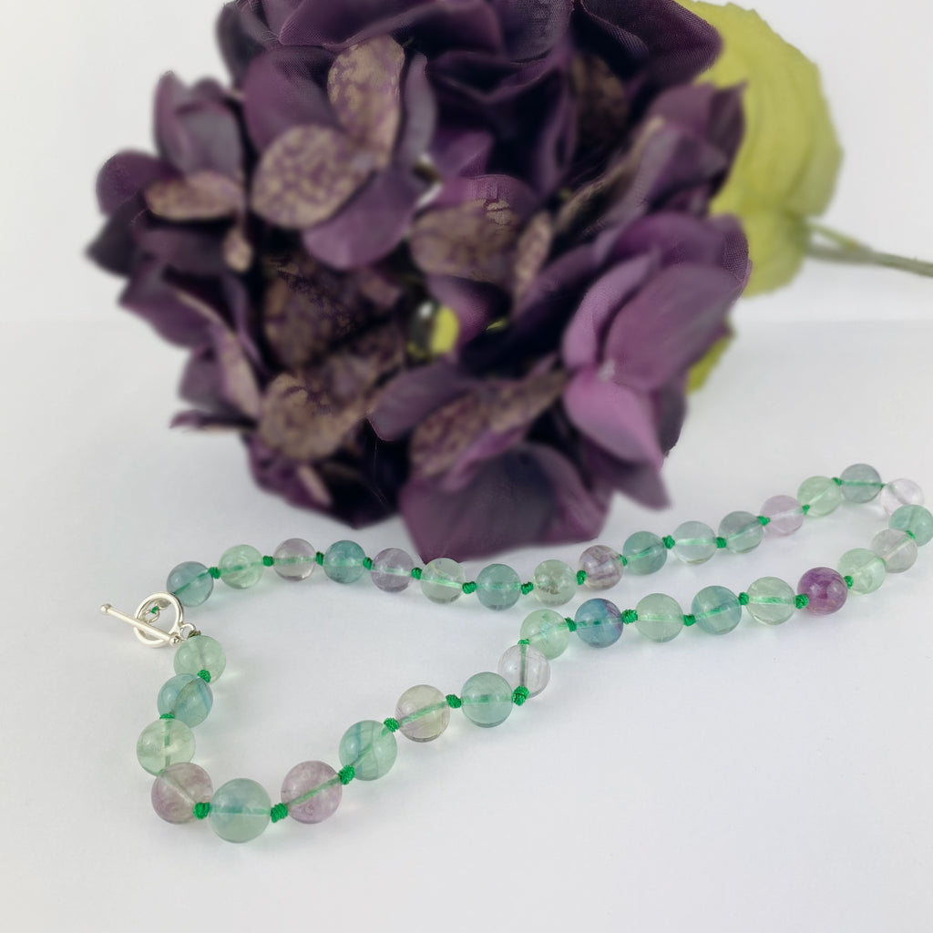 Fluorite Bead Necklace - VNKL230