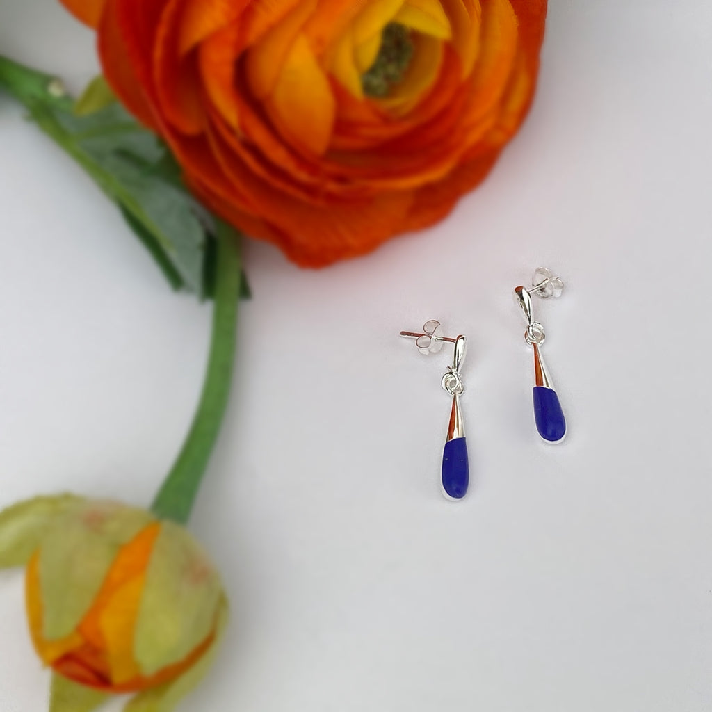 Lapis Droplet Earrings - VE632