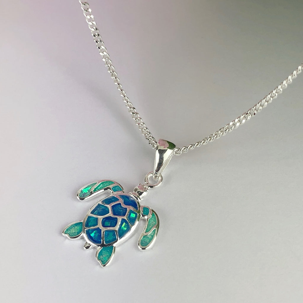 Turtle Blue Pendant - SP2790
