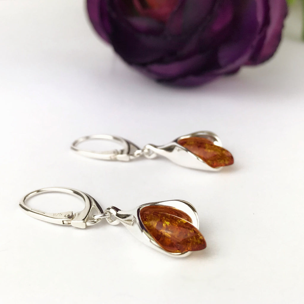 Amber Fire Earrings - SE1815